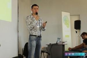 Андрей Бурмус с докладом на Байкальском Интернет Форуме