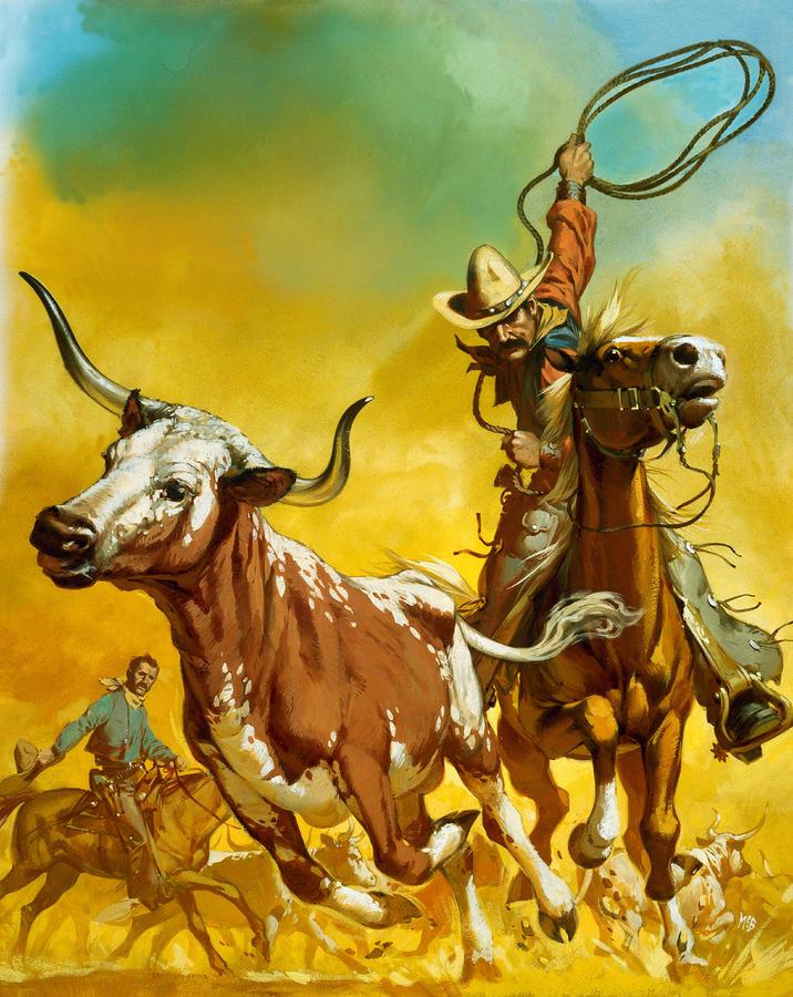 cowboy-lassoing-cattle-angus-mcbride