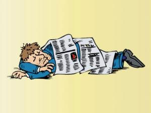 homeless sleeps cartoon