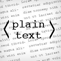 plian text