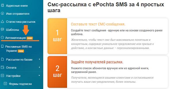 автоматизация sms рассылок