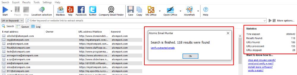 Найти email адреса для бизнеса