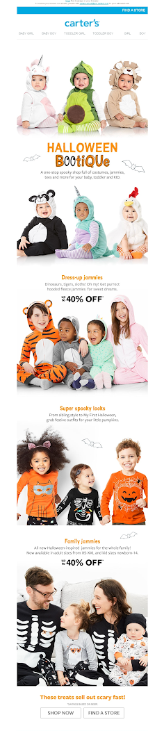 Пример email на Хэллоуин