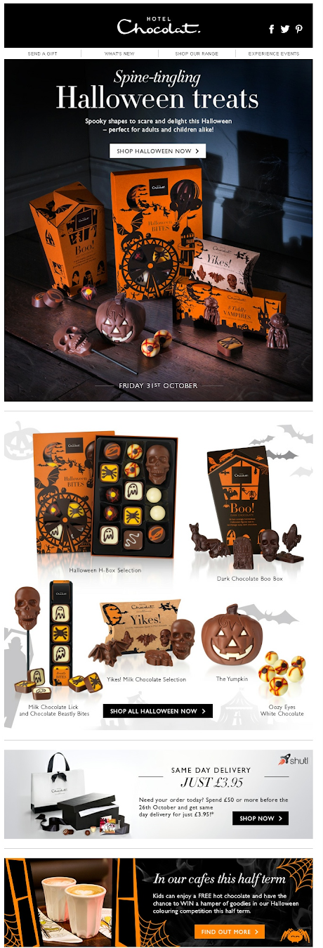 Рассылка на Хэллоуин