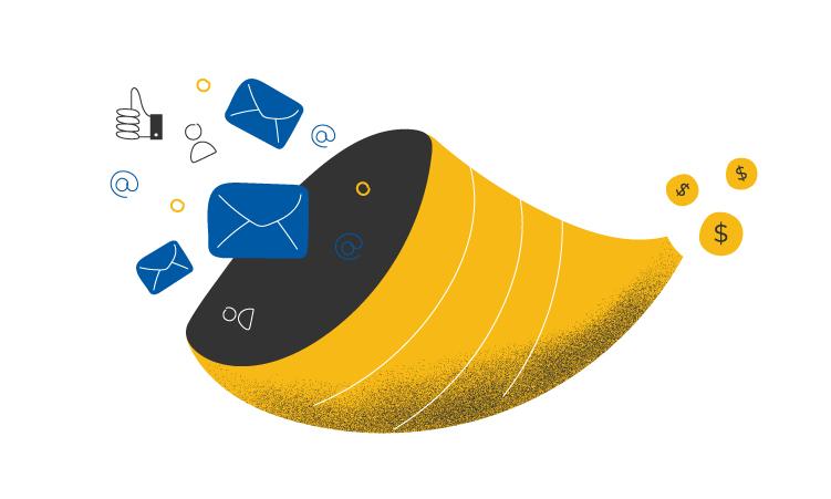 Как email-рассылка помогает провести клиента по воронке продаж