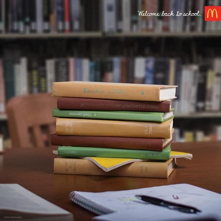 Пример имейл необычная реклама от McDonalds